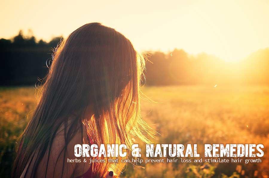natural organic remedies to regrow hair and stop hair loss