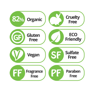 RevuCell Organic Instant Volume Conditioner is 82% Organic, Gluten Free, Vegan, Sulfate Free, Fragrance Free, Paraben Free, and made with Cruelty Free Eco Friendly Ingredients