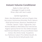 RevuCell Organic Instant Volume Conditioner Organic and Cruelty Free Ingredients